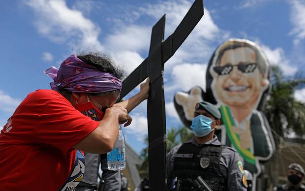 Protest protiv Bolsonara u Manausu
